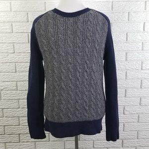 Banana Republic Cable Knit Raglan Sweater M Merino
